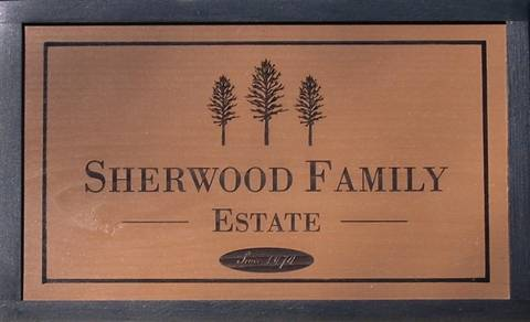 Wooden Estate Sign to personalize.