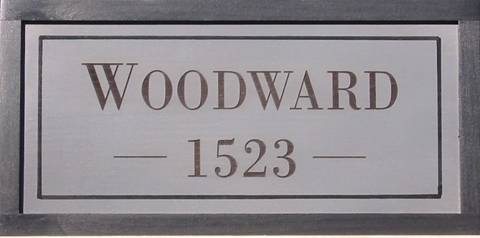 Address signs on pine wood.