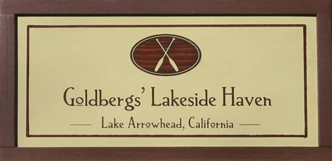 Lakeside Haven signs to customize.